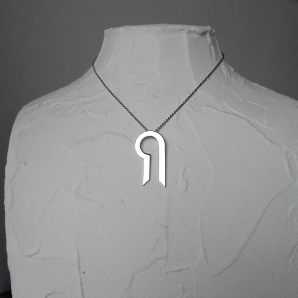 Miniature DiapaZon pendentif chaine bcg designer argent rhodié