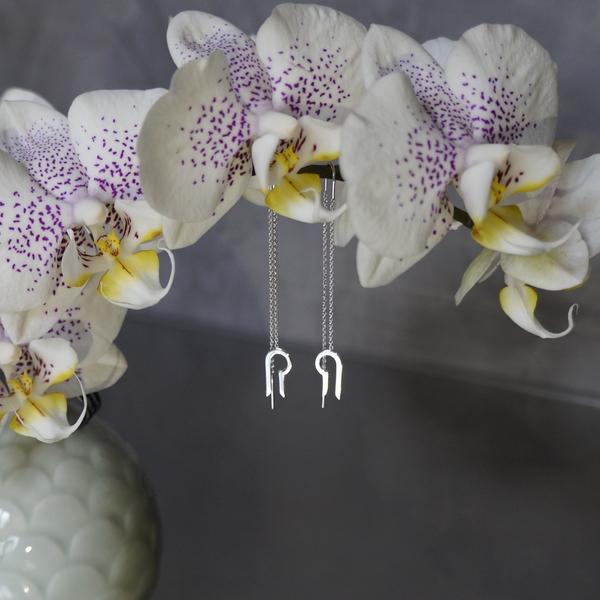 Miniature DiapaZon Argent rhodié Boucle oreille bcg designer