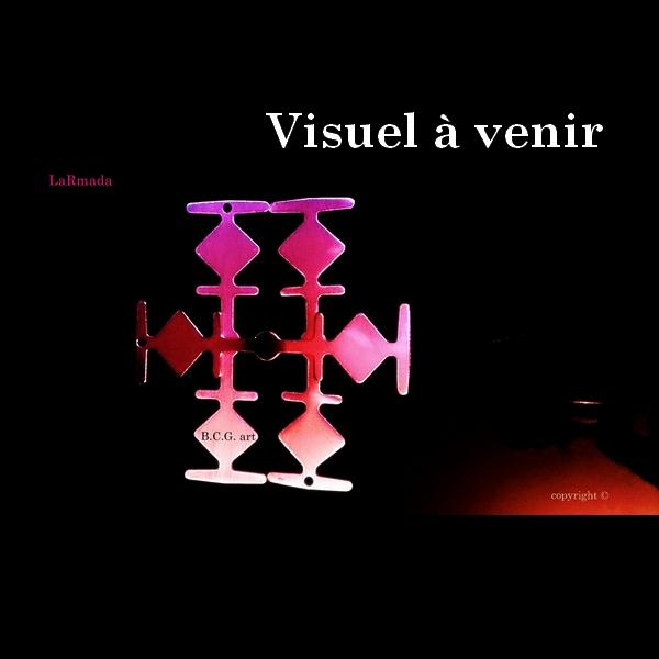 miniature Croix Larmada Argent rhodié Boucles d'oreilles bcg designer artiste créateur