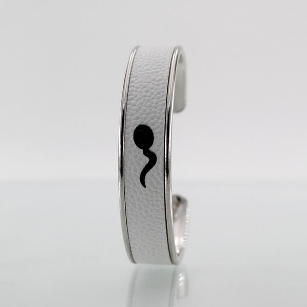Bracelet LARZO Jonkar Z°zo One Touch Noir sur cuir